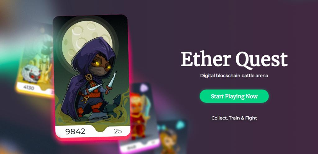 戦士を召喚して世界中のユーザーと覇権争い!Ether Quest(イーサクエスト)