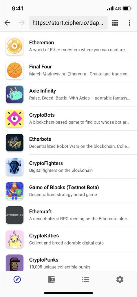 Cipherでプレイ可能なdAppsゲーム一覧
